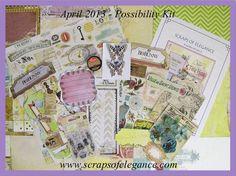 Scraps of Elegance scrapbook kits - April 2013 Possibility Kit