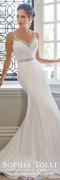 The Sophia Tolli Wedding Dress Collection - Style No. Y21443 Talia www.sophiatolli.com #weddingdresses #weddinggowns