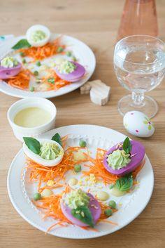 Oeufs Mimosa aux Petits Pois - Safran Gourmand