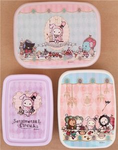 Sentimental Circus afternoon tea Bento Box 3 pcs Lunch Box 2