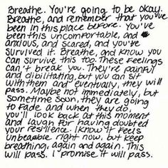 "Love this quote about anxiety attacks! I don't have them often but when I do all I think over and over is ""just breathe"""