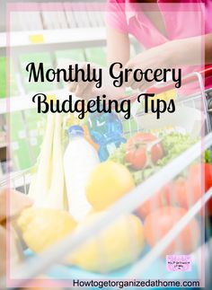 If you are looking for monthly grocery budget tips to help you save money on groceries and even cut your budget with these tips! Sometimes we don't notice how much we are spending on groceries each week! Great tips on working out your grocery budget! #grocery #budget #budgetingtips #howtobudget