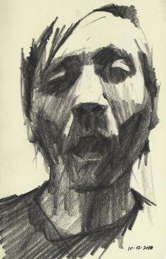 Portrait Drawing Mike Creighton Self-portrait Sketch 3 Life Drawing, Figure Drawing, Drawing Sketches, Painting & Drawing, Art Drawings, Encaustic Painting, Pencil Drawings, Hipster Drawings, Pencil Shading