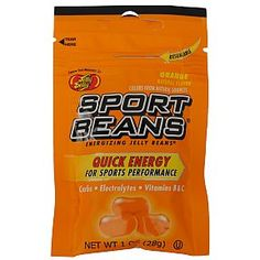 When you need that extra edge try Jelly Belly Sport Beans - Orange flavor-Quick energy for sport performance.  Replenishes carbs, electrolytes, vitamin B & C. #sports #beverage