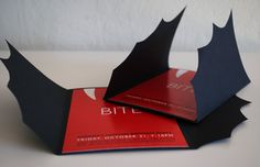 Vampire Bat Invitation for Halloween or Costume Party