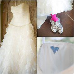 Ruffled Wedding Dress & Pink Socks