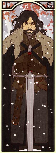 Eddard Stark Bookmark by Lelia