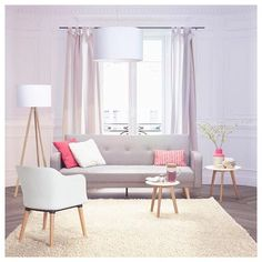 """This living room 😍 . --> Chair design scandinave """"frisk"""" white / wood and soft grey cushion --> Scandinavian style coffee table """"Kofy"""" . --> Check out those AlterEgo products on www.webdeco.com . . . #alterego #chair #scandinaviandesign #designer #design #inspiration #decoaddict #instadecor #architecture #homestyle #coffeetable #moderndesign #scandinavian #bois #wood #white #chaise #style #styleblogger #homedecor #interiordesign #color #whitestyle #lamp #decorhome #salon #livingroom…"""