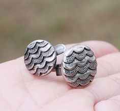Button Ring Wave Metal Adjustable Wire Wrap by jeanninehandmade