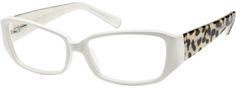 Women's White 6095 Acetate Full-Rim Frame with Design on Temples | Zenni Optical Glasses-H0NeOLfN