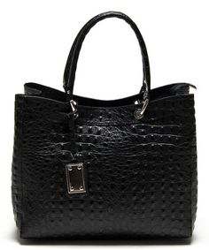 Loving this Nero Textured Leather Tote on #zulily! #zulilyfinds