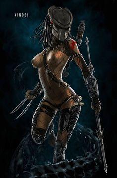 images like anime fantasy Alien Vs Predator, Predator Alien, Predator Cosplay, Fantasy Anime, Sci Fi Fantasy, Dark Fantasy, Marvel Vs, Fantasy Women, Fantasy Girl