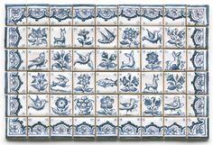 Tiny Delft tiles - like the border tiles
