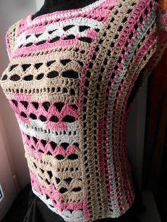 crochet top crochet vest crochet tank FREE SHIPPING