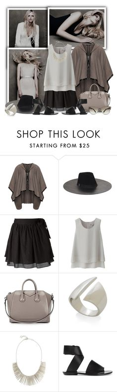 """""""Brown, black, white"""" by melaniamar ❤ liked on Polyvore featuring Lida Baday, Mat, BCBGMAXAZRIA, Sam&Lavi, Uniqlo, Givenchy, Proenza Schouler and Tom Ford"""