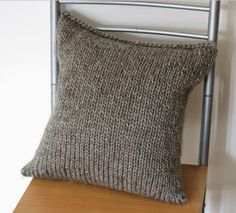 This Simple Seamless Cushion Cover really is seamless. Using a figure 8 cast on and a three-needle bind off with the cushion already inside, this cushion cover knitting pattern is knit around the pillow with no seams, zippers, or buttons involved.