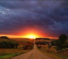 Community - Brilliant sunrise over Oklahoma Skies this morning in ...