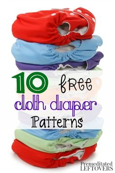 Sewing Ideas For Baby 10 Free Cloth Diaper Patterns. Save money on cloth diapers for your baby by making them yourself with one of these free cloth diaper patterns and tutorials. Diy Diapers, Reusable Diapers, Free Diapers, Preemie Diapers, Baby Clothes Patterns, Sewing Patterns Free, Baby Patterns, Dress Patterns, Free Pattern