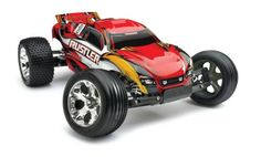 Hobby Coin Collecting Products - Traxxas RTR 110 Rustler with Water Proof XL5 RTR and 7 Cell Battery with Charger Red ** Want additional info? Click on the image.