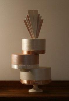 Art Deco Wedding Cake by Courtney Danielle