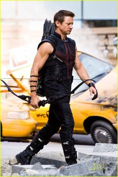 Hawkeye , portrayed by actor Jeremy Renner . Related articles The Avengers' Hawkeye: Not Such a Bad Archer Aft. Jeremy Renner, Marvel Comics, Marvel Avengers, Avengers Fanfic, Hawkeye Marvel, Avengers Images, Avengers 2012, Avengers Cast, Clint Barton