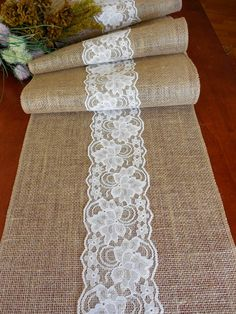 If you want to make your event special, this rustic table runner is an easy, inexpensive way to set a beautiful table scape! The runner is made