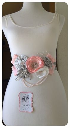 Pink Maternity Sash Do Not Open Pink & by BridalBlingNBowtique
