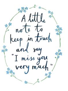 A Little Note To Keep In Touch And Say I Miss You by LittleHeidiUK