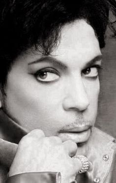 Prince black and white photo