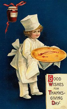 Some Oldie But Goody Vintage Thanksgiving Postcards
