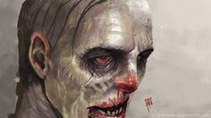 Zombie by e-guerrero on DeviantArt Horror Art, Halloween Face Makeup, Photoshop, Deviantart, Artwork, Zombies, Paintings, Work Of Art