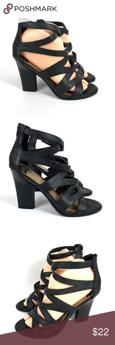"""Fergie Fergalicious Black Gladiator Sandals Fergie 'Gussie' black gladiator high heel sandals / pumps. Great shape. LOTS of life left in these. 4"""" heels.  137.4.1473 Fergalicious Shoes Sandals"""