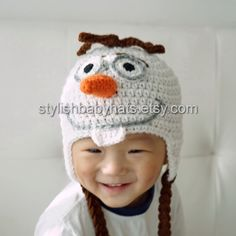 Olaf Hat Snowman Hat Olaf the Snowman Hat by stylishbabyhats