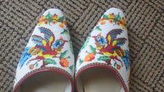 Modern Peranakan beaded ( yes, glass beads) slippers - Singapore