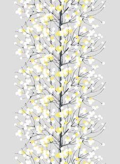grey-yellow-white Lumimarja - Marimekko fabric