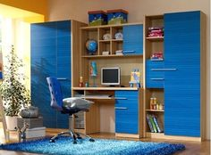 Desk Storage, Red And White, Black, Corner Desk, Kids Room, Bookcase, The Unit, Shelves, Type 1