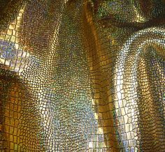 """Leather 6 Pack 4""""x6"""" Iridescent Glitter GOLD Mosaic on BLACK Croco Cowhide #128  3 oz / 1.2 mm PeggySueAlso? E8130-02"""