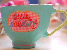 Sweet papier mache cup