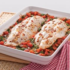 Fillets of Pangasius with Tomatoes and Spinach Sandwich Recipes, Appetizer Recipes, Filet Recipes, My Kitchen Rules, Vegan Recipes, Cooking Recipes, Filets, Oven Baked, Tomato Sauce