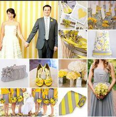Yellow+silver wedding theme