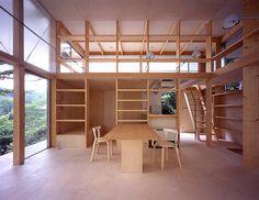 ●Hut T 2001 所在地 山梨県南都留郡山中湖村 主要用途 週末住宅 設計 坂本一成研究室 施工 土谷建設