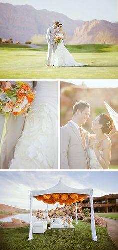 oh.my.heaven. beautiful orange wedding