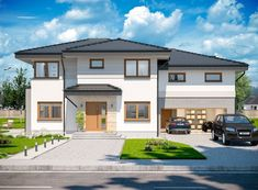 DOM.PL™ - Projekt domu ARP EMILIAN CE - DOM AP2-13 - gotowy koszt budowy Classic House Exterior, Modern Small House Design, Mansions Homes, Design Case, Home Fashion, My Dream Home, Villa, New Homes, Construction