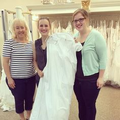 Beautiful bride, Tina, and family! Welcome to @theelegantbride family! #elegantbride #columbusbride #weddingdress