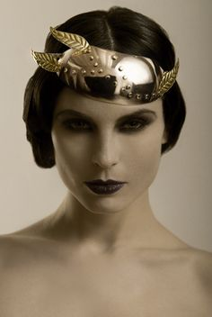 Metal couture by thelooksandthebrains.  Neo-silent era.