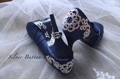Tatted lace on shoes, I designed and tatted for a friends wedding. Photo by Silver Button Photography