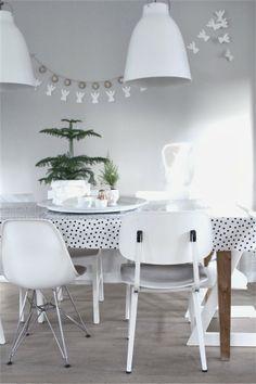 "Foto ""pinnata"" dalla nostra lettrice Carla Carla &SUUS | White XMAS at home | ensuus.blogspot.nl | Witte kerst"