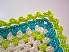 Free chart by Color 'n Cream for blanket #crochet edging