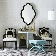 A bold and dazzling entryway is one that widens they eyes and evokes ferocious inspiration #jonathanadler