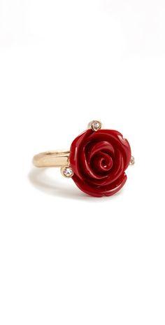 Oscar de la Renta Resin Rose Ring | SHOPBOP